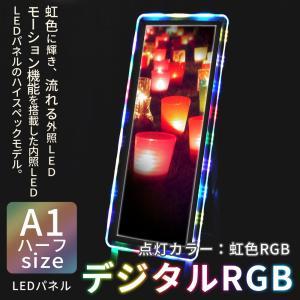 LED パネル 看板 展示 POP デジタルRGB A1 ハーフ 送料無料|pascalstore
