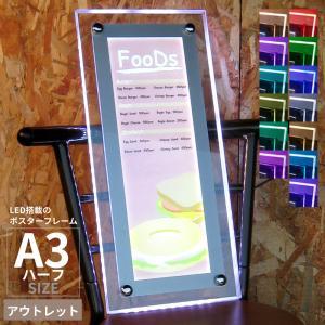 ポスターフレーム LEDライトパネル A3ハーフ RGB アウトレット|pascalstore