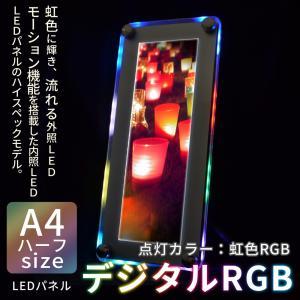LED パネル 看板 展示 POP デジタルRGB A4 ハーフ 送料無料|pascalstore