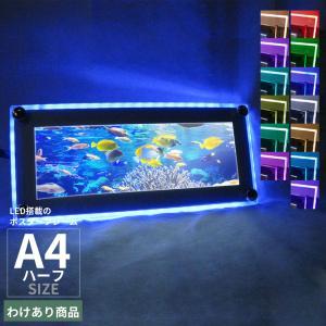 ポスターフレーム LEDライトパネル A4ハーフ わけあり品 在庫限り pascalstore