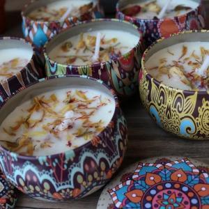 アウトレット アロマキャンドル アロマ 缶 琥珀の香り 12缶 セット リラックス 癒し pasmii