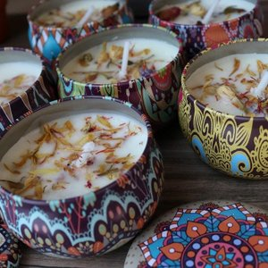 アウトレット アロマキャンドル アロマ 缶 琥珀の香り 6缶 セット リラックス 癒し pasmii