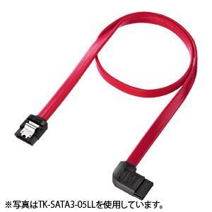 SATA3ケーブル 0.3m 左L型コネクタ、ストレート側ラッチ付き|paso-parts