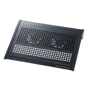 ノートPCクーラー12.1型ワイド〜14.1型ワイド対応 ブラック|paso-parts