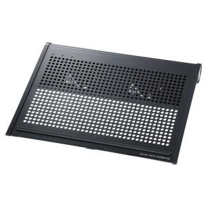 ノートPCクーラー 15.6型ワイド〜17型ワイド対応 ブラック|paso-parts