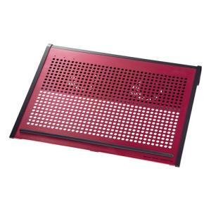 ノートPCクーラー 15.6型ワイド〜17型ワイド対応 レッド|paso-parts