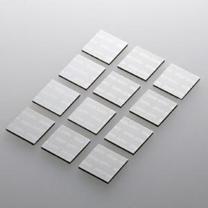 パソコン冷却パット 17mm 角型 12枚入り シルバー iPhone iPad タブレットPC スマートフォン 各種モバイル機器対応|paso-parts