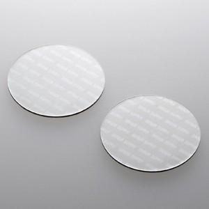 パソコン冷却パット 43mm 丸型 2枚入り シルバー iPhone iPad タブレットPC スマートフォン 各種モバイル機器対応|paso-parts