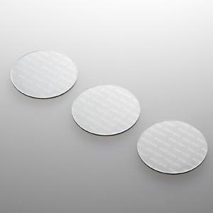 パソコン冷却パット 43mm 丸型 3枚入り シルバー iPhone iPad タブレットPC スマートフォン 各種モバイル機器対応|paso-parts
