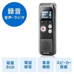 ボイスレコーダー 小型 長時間対応 ICレコーダー ラジオ搭載 電話音声録音 8GB内蔵|paso-parts