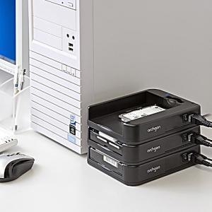 HDDケース(USB3.0・SATA接続・2.5&3.5インチ両対応・SATA3対応・スタック構造) paso-parts