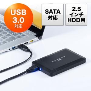 2.5インチHDDケース(USB3.0対応・SATA接続・バスパワー・SSD対応・工具不要) paso-parts