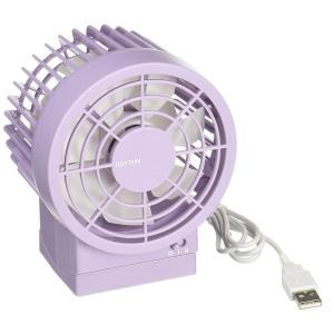 扇風機 卓上 USB fan パワフル・静音・省エネ コンパクトなUSB接続ファン 角度調整付 CITIZEN リズム時計|pasocon-ya