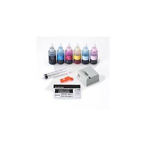 送料無料 エレコム エプソン用80/70詰め替えインクキット 6色セット+リセッター THE-8070KIT THE-8070KIT|pasoden