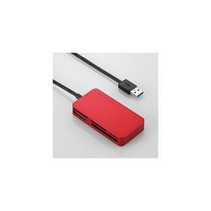 メール便送料無料 エレコム USB3.0対応メモリリーダライタ [51+5メディア対応]  レッド  MR3-A006RD MR3-A006RD|pasoden