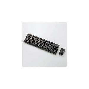 即納 送料無料 エレコム 2.4GHzワイヤレスフルキーボード&マウス ブラック TK-FDM063BK || ワイヤレスタイプ マウスセット|pasoden