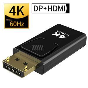 DisplayPort to HDMI 変換アダプタ 4K 60Hz対応 DPからHDMIに