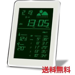HOUSE USE PRODUCTS ハウスユーズプロダクツ LCD表示 電波置き掛け時計 AIR-CONDITION-CLOCK Dayton GREEN ACL079 送料無料|pasokon