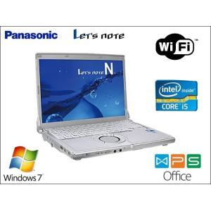 中古 ノートパソコン 小型・軽量 Panasonic CF-N10 Core i5 2.5GHz HDD 320GB メモリ 8GB オフィス  Windows 7 pro Wifi|pasonet