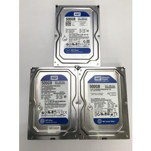 中古PCパーツ 500GB ハードディスク 3台セット 内臓 3.5インチ SATA western...