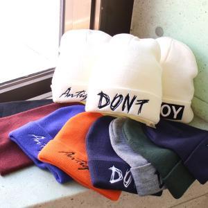 冬のマストアイテム、ニットキャップが入荷。カラーは、全18色。 メール便 送料無料 帽子 ニット ロ...