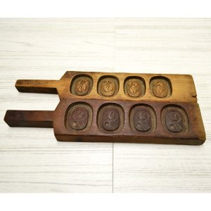 菓子木型 落雁 和三盆 羽子板タイプ 2本セット 1602-716|passage-bm