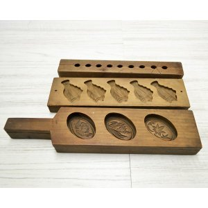 菓子木型 落雁 和三盆 羽子板タイプ 3本セット 1602-719|passage-bm