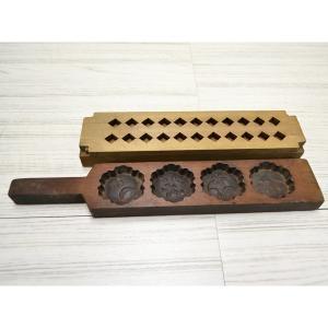 菓子木型 落雁 和三盆 羽子板タイプ 2本セット 1602-731|passage-bm
