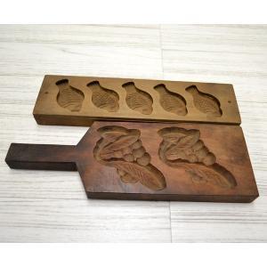 菓子木型 落雁 和三盆 鯛五連 他 2本セット 1602-732|passage-bm