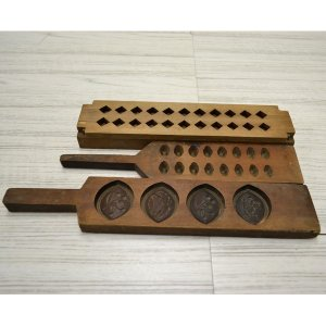 菓子木型 落雁 和三盆 羽子板タイプ 3本セット 1602-733|passage-bm