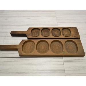 菓子木型 落雁 和三盆 羽子板タイプ 2本セット 1602-737|passage-bm