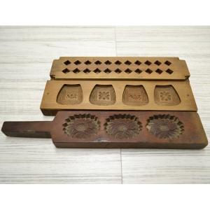 菓子木型 落雁 和三盆 羽子板タイプ 3本セット 1602-742|passage-bm