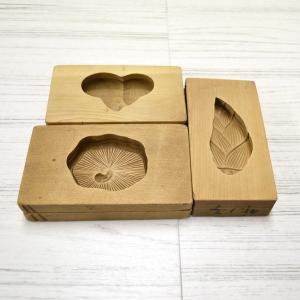 菓子木型 落雁 和三盆 キウイ シイタケ 竹の子 3個セット 1602-767|passage-bm