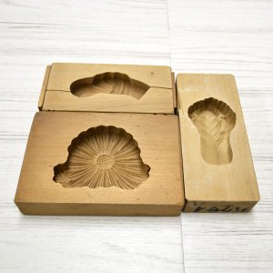 菓子木型 落雁 和三盆 菊 ハクサイ 他 3個セット 1602-769|passage-bm