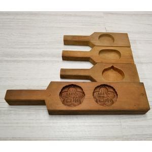 菓子木型 落雁 和三盆 羽子板タイプ 4本セット 1602-809|passage-bm
