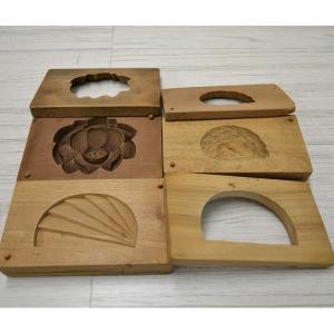 菓子木型 落雁 和三盆 かまぼこ 蓮 鶴 1603-851|passage-bm