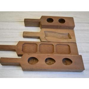 菓子型 落雁 和三盆 羽子板タイプ 鶴亀寿三連 祝 ウド 菊 4個セット 1702-629|passage-bm