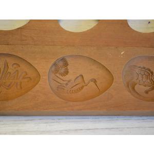 菓子型 落雁 和三盆 羽子板タイプ 鶴亀寿三連 祝 ウド 菊 4個セット 1702-629|passage-bm|03