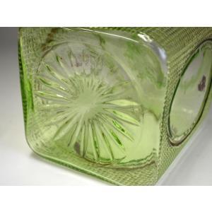 ウランガラス 広口瓶 キャンディポット レトロ アンティーク カッティング 1801-498|passage-bm|11