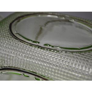 ウランガラス 広口瓶 キャンディポット レトロ アンティーク カッティング 1801-498|passage-bm|12