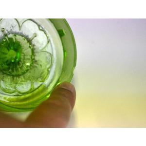ウランガラス 広口瓶 キャンディポット レトロ アンティーク カッティング 1801-498|passage-bm|07