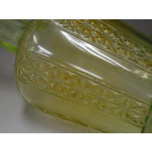 ウランガラス 花瓶 花活 カッティング レトロ アンティーク 1801-500|passage-bm|11
