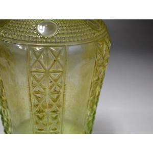 ウランガラス 花瓶 花活 カッティング レトロ アンティーク 1801-500|passage-bm|12