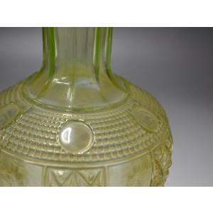 ウランガラス 花瓶 花活 カッティング レトロ アンティーク 1801-500|passage-bm|13