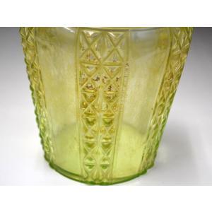 ウランガラス 花瓶 花活 カッティング レトロ アンティーク 1801-500|passage-bm|14