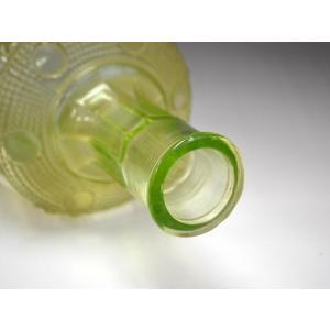 ウランガラス 花瓶 花活 カッティング レトロ アンティーク 1801-500|passage-bm|15