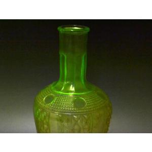 ウランガラス 花瓶 花活 カッティング レトロ アンティーク 1801-500|passage-bm|03