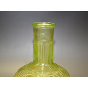 ウランガラス 花瓶 花活 カッティング レトロ アンティーク 1801-500|passage-bm|05