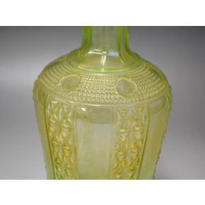 ウランガラス 花瓶 花活 カッティング レトロ アンティーク 1801-500|passage-bm|06