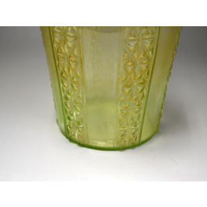 ウランガラス 花瓶 花活 カッティング レトロ アンティーク 1801-500|passage-bm|07